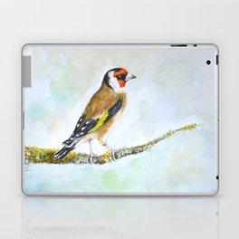 European goldfinch on tree branch Laptop & iPad Skin