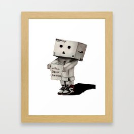 Danbo poetry Framed Art Print
