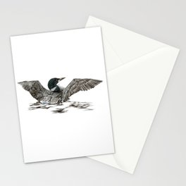 Morning Stretch - Common Loon Stationery Cards