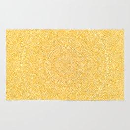 The Most Detailed Intricate Mandala (Mustard Yellow) Maze Zentangle Hand Drawn Popular Trending Rug