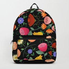 Folk Art Inspired Garden Of Fantastic Floral Delight Backpack