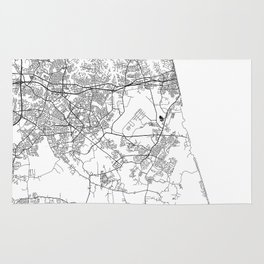 Minimal City Maps - Map Of Virginia Beach, Virginia, United States Rug