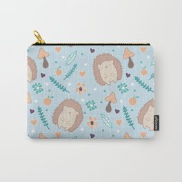 Cute hedgehogs pattern Carry-All Pouch