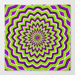 Optical Illusion moving pattern Canvas Print