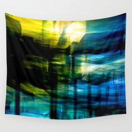 Light in Blue Wall Tapestry