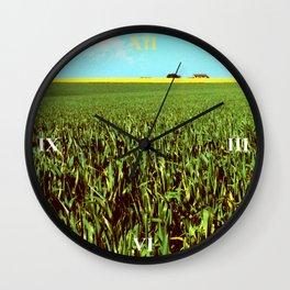 High Plains Crop Wall Clock