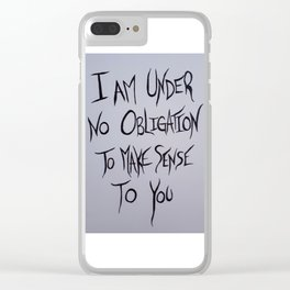 Mad Hatter Quote Clear iPhone Case