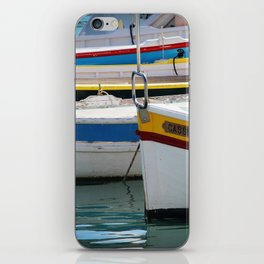 Boats in Cassis iPhone Skin