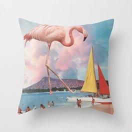 Flamingo Playground Throw Pillow
