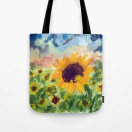 Sunflower Sunset Tote Bag