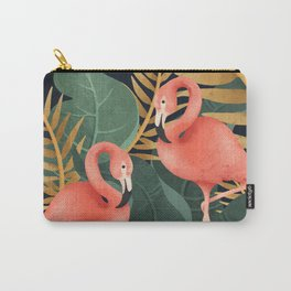 Two Flamingos Carry-All Pouch