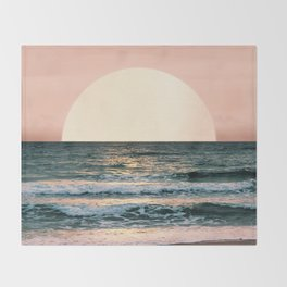 Summer Sunset Throw Blanket