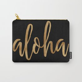 Aloha  - gold on black Carry-All Pouch