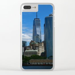 Manhattan View From Hudson River Clear iPhone Case