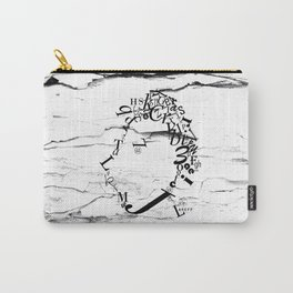 Typeface distressed Carry-All Pouch