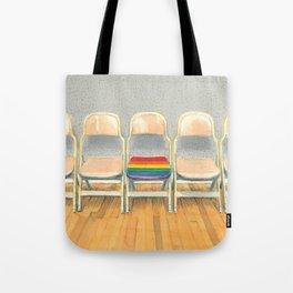 Rainbow Chair Tote Bag