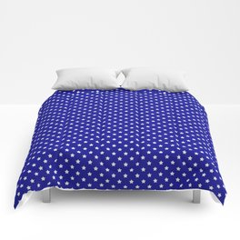 Blue and White Stars Comforters