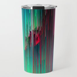 Just Chillin' - Abstract Glitchy Pixel Art Travel Mug
