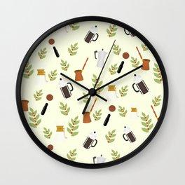 brewing pattern Wall Clock