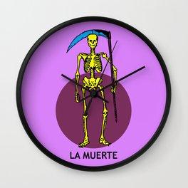 La Muerte Mexican Loteria Card Wall Clock