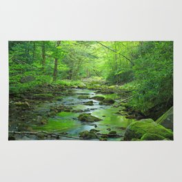 Rocky Forest Creek Rug