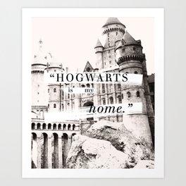 Welcom to Hogwarts Art Print