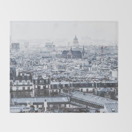 Rooftops - Architecture, Photography Throw Blanket