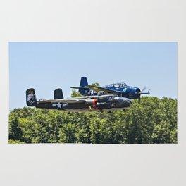B-24 and Hellcat World War II Aircraft Fly Together at Mosby Missouri Rug