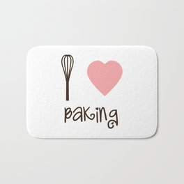 I Heart Baking Bath Mat