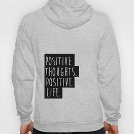 Inspirational Quote Wall Art Positive Thoughts Positive Life Magenta Purple Decor Motivational Minim Hoody