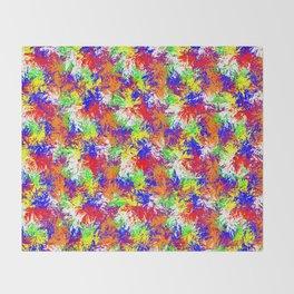 Vibrant Trippy Jiggle Pattern Throw Blanket