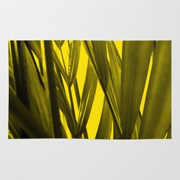 tropical palmleaves texture  in the summer Rug