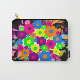 Retro Flower Puff Balls Carry-All Pouch