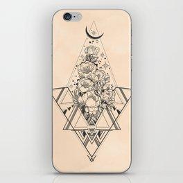 Desert Geometric Roses Coral iPhone Skin