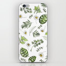 Scattered Garden Herbs iPhone Skin