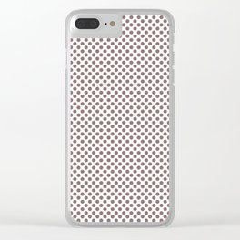 Twilight Mauve Polka Dots Clear iPhone Case