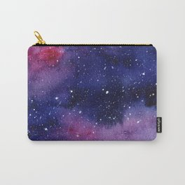 Watercolor Galaxy Nebula Pink Purple Sky Stars Carry-All Pouch