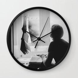 Reading Poe Wall Clock