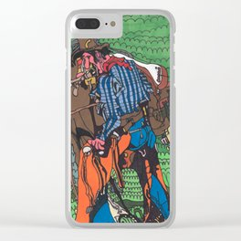 One of a Kind Cowboy Clear iPhone Case