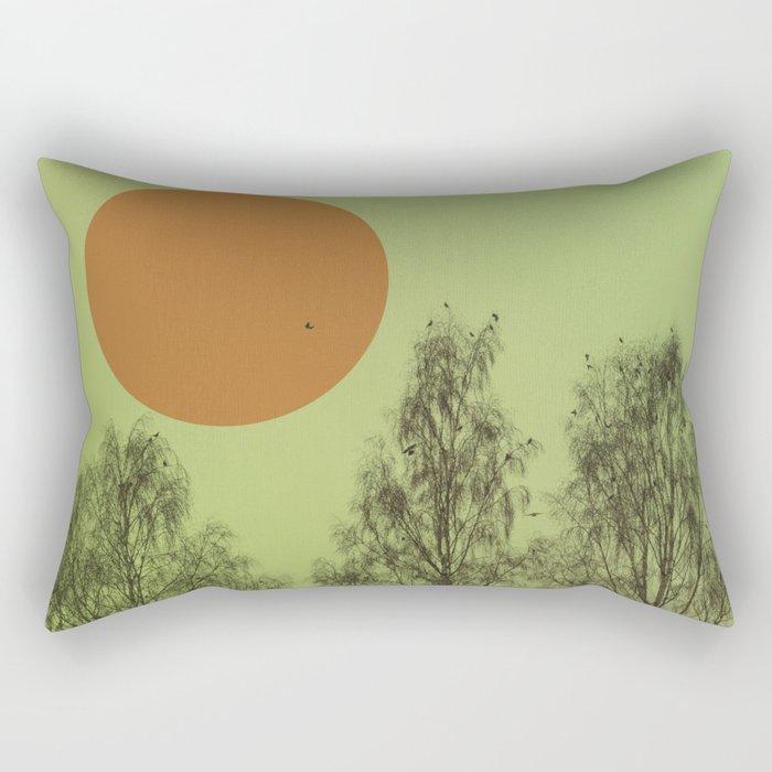 Trees and birds 2 Rectangular Pillow