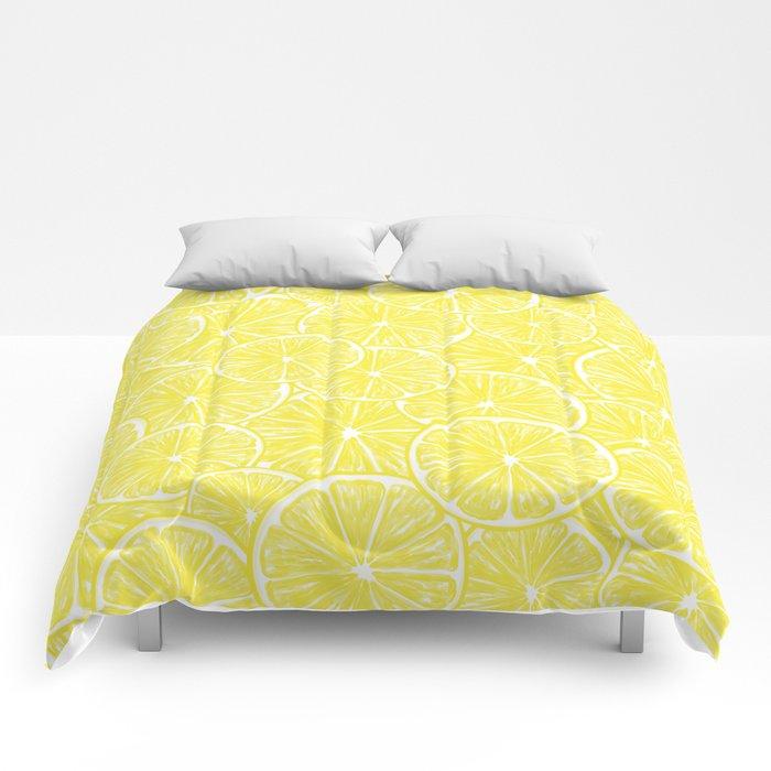 Lemon slices pattern design Comforters
