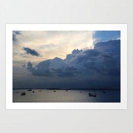 Clouds in Singapore Art Print