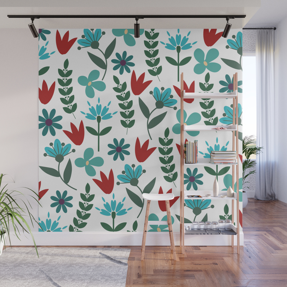 Flower Pattern Viii Wall Mural by Kapstech WMP8038006