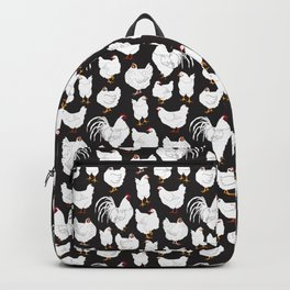 Chickens Barnyard Repeat Pattern Illustration Backpack