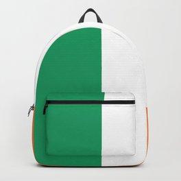 Irish Tricolour Green Orange and White Irish Flag Backpack