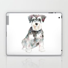 Miniature Schnauzer dog watercolors illustration Laptop & iPad Skin