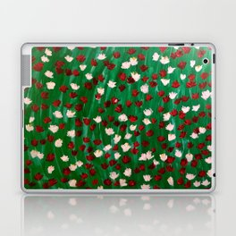 Red and White Flowers on Green Grass Laptop & iPad Skin