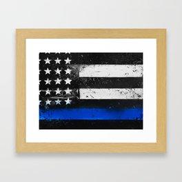 Thin Blue Line - Back the Blue Framed Art Print