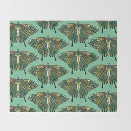 swallowtail butterfly emerald Throw Blanket