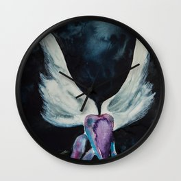 Darkness of an Angel Wall Clock
